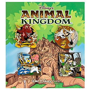 Disneys Animal Kingdom Theme Park Pin Set - 4-Pc.