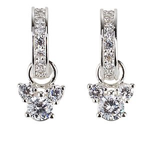 Crystal Hoop Mickey Mouse Earrings