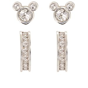 Sparkling Mickey Mouse Earring Set -- 4-Pc.