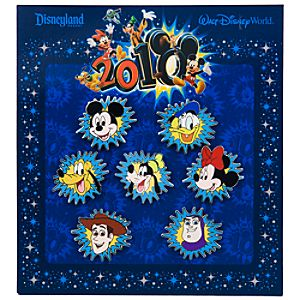 2010 Mickey Mouse and Friends Mini Pin Set -- 7-Pc.