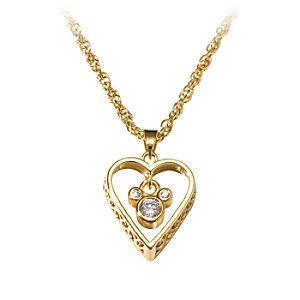 Filigree Heart Mickey Mouse Necklace