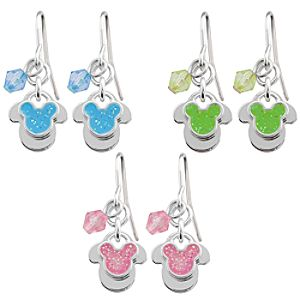 Mickey Mouse Earrings with Dangle Bead