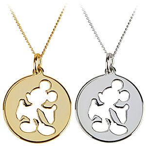 Silhouette Cutout Mickey Mouse Necklace