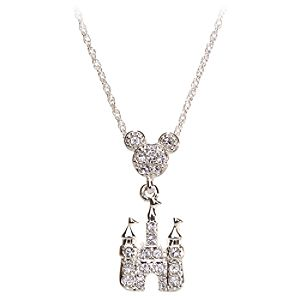 Crystal Castle Mickey Mouse Necklace