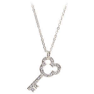Crystal Key Mickey Mouse Necklace