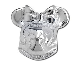 Sterling Silver Minnie Mouse Head Chamilia Charm