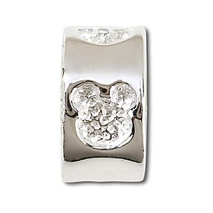 Sterling Silver Engraved Mickey Mouse Icon Chamilia Charm