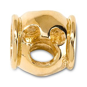 Gold Mickey Mouse Icon Cut Out Chamilia Charm