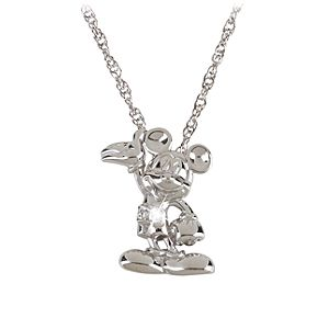Sterling Silver and Diamond Mickey Mouse Necklace from the Disney Dream Collection
