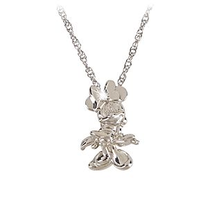 Sterling Silver and Diamond Minnie Mouse Necklace from the Disney Dream Collection