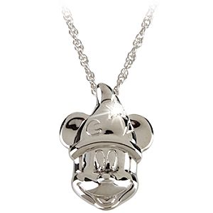 Sterling Silver Sorcerer Mickey Mouse Necklace from the Disney Dream Collection