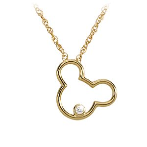 14-Kt. Gold and Diamond Mickey Mouse Icon Necklace from the Disney Dream Collection