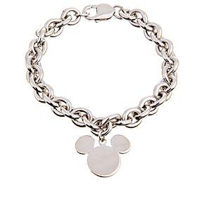 Sterling Silver Mickey Mouse Charm Bracelet