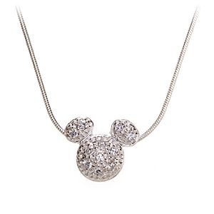 Sterling Silver Pavé Mickey Mouse Icon Necklace