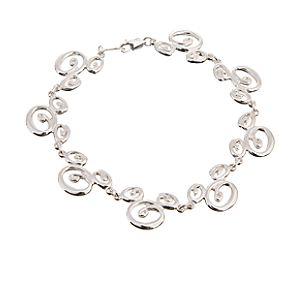 Sterling Silver Swirl Mickey Mouse Bracelet