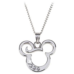 Curl Mickey Mouse Necklace