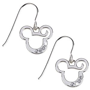 French Wire Curl Mickey Mouse Earrings