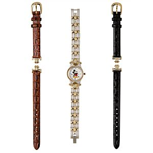 Classic Mickey Mouse Watch with Interchangeable Bands for Women
