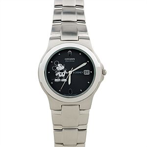 Citizen® Eco-Drive® Stainless Steel Mickey Mouse Watch for Men