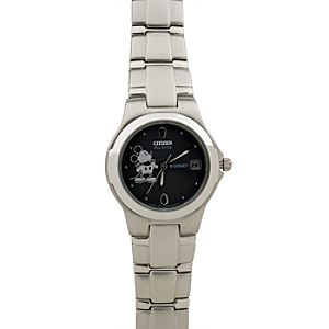 Citizen® Eco-Drive® Stainless Steel Mickey Mouse Watch for Women