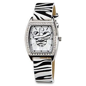 Zebra Band Mickey Mouse Watch