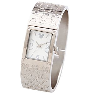 Stainless Steel Mickey Mouse Cuff Watch
