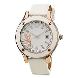 Rose Gold Mickey Mouse Watch in White