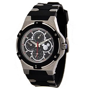 Silicone Mickey Mouse Chronograph Watch for Men