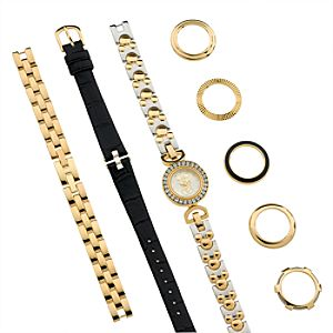 Interchangeable Mickey Mouse Watch Set for Women