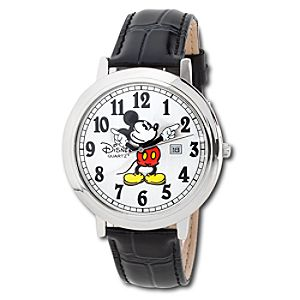 Jumbo Classic Mickey Mouse Watch -- Black/Silver