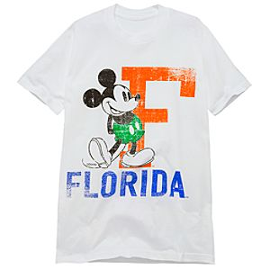 University of Florida Mickey Mouse Tee for Adults