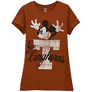 University of Texas Mickey Mouse Tee for Women