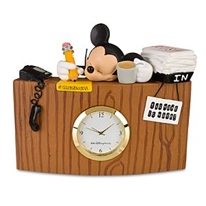 Sleeping Mickey Mouse Desk Clock