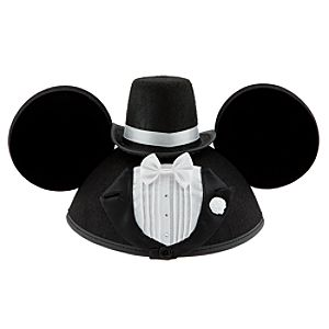 Personalized Tuxedo Groom Mickey Mouse Ear Hat