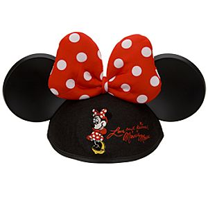 Personalized Polka-Dot Bow Minnie Mouse Ear Hat for Girls