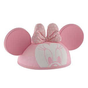 Personalized Minnie Mouse Ear Hat for Infants -- Pink