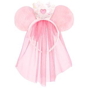 Veiled Disney Princess Minnie Mouse Ears Headband for Girls