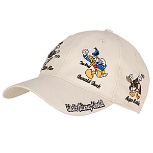 Donald Thru the Years Donald Duck Baseball Cap for Adults