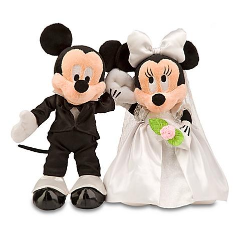 Minnie and Mickey Mouse Plush Toys - 2-Pc. Wedding Set