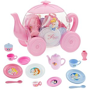 Disney Princess Carriage Deluxe Tea Set