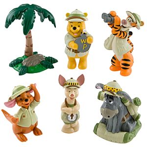 Pooh and Friends On Safari Figurine Play Set -- 6-Pc.