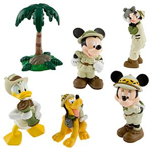 Mickey and Friends On Safari Figurine Play Set -- 6-Pc.