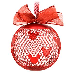 Fillable Mesh Mickey Mouse Ornament