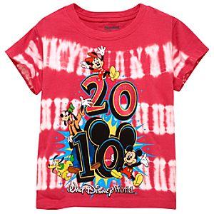 2010 Tie Dye Walt Disney World Resort Tee for Kids