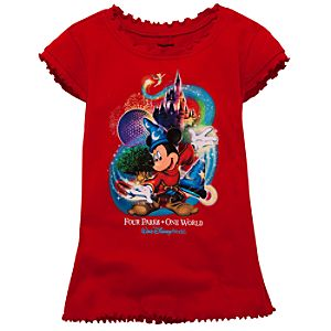Glitter Four Parks Mickey Mouse Tee