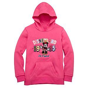 Disneyland Resort Minnie Mouse Hooded Fleece Sweatshirt for Girls