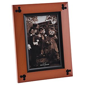 Beveled Cherry Wood Mickey Mouse Photo Frame - 4 x 6