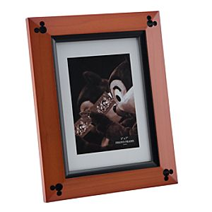 Beveled Cherry Wood Mickey Mouse Photo Frame - 5 x 7