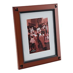 Beveled Cherry Wood Mickey Mouse Photo Frame - 8 x 10