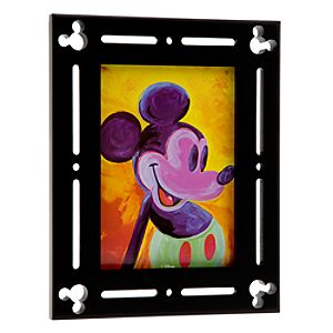 Black Wood Mickey Mouse Photo Frame - 5 x 7